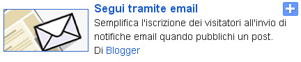 segui tramite email